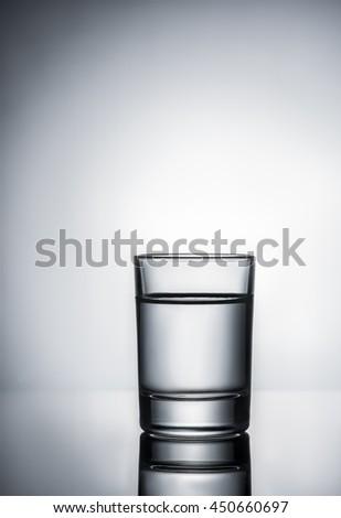 Glass of vodka - stock photo