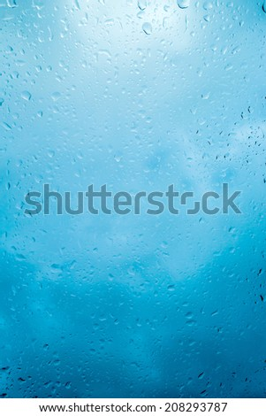 Glass of water droplets - stock photo