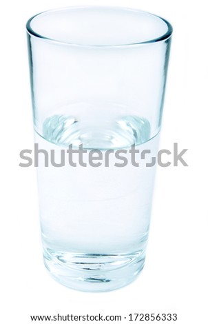 glass of water isolated - stock photo