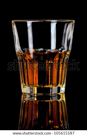 glass of whiskey - stock photo