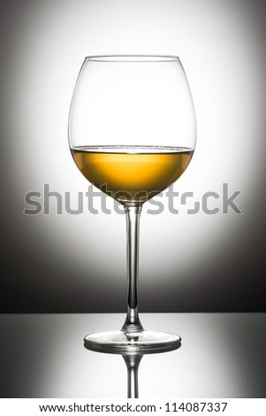 glass of white wine - stock photo