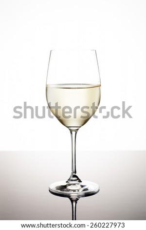 Glass of White Wine - stock photo