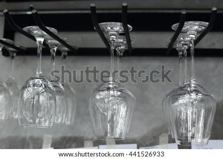 Glass of wine. - stock photo