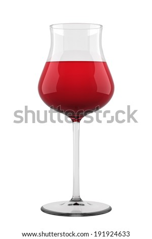 Glass of wine isolated. - stock photo