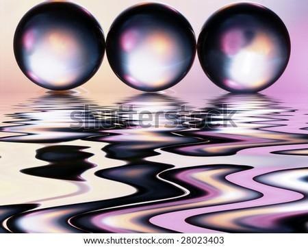 Glass on a violet background - stock photo