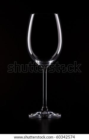 Glass on black - stock photo