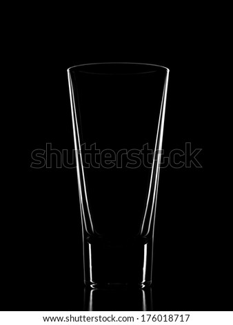Glass on black background - stock photo