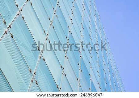 Glass panels on a modern building - stock photo