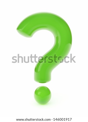 Glass question mark - stock photo