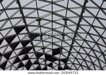 Glass roof - stock photo