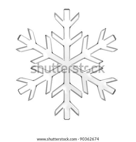 Glass snowflake - stock photo