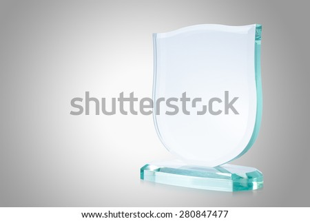Glass trophy - stock photo