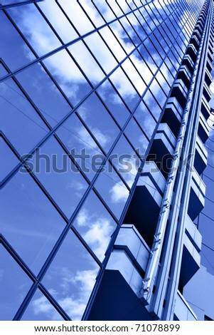 Glass wall - stock photo