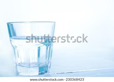 glass water - stock photo