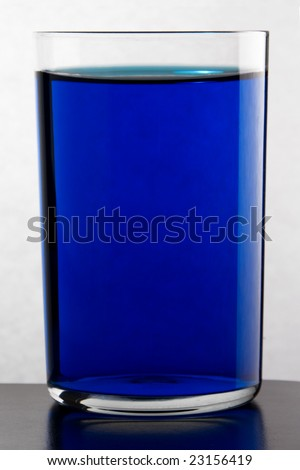 Glass with drink. - stock photo