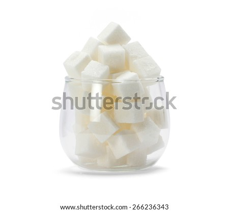 Glass with sugar cube  - stock photo