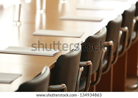 glasses against tables of brown color - stock photo