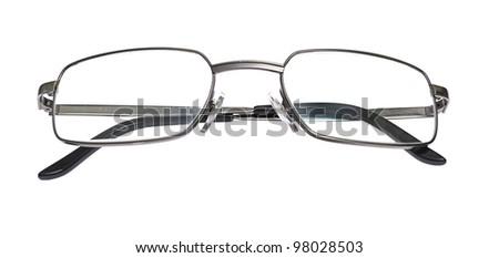 Glasses isolated on white background. - stock photo