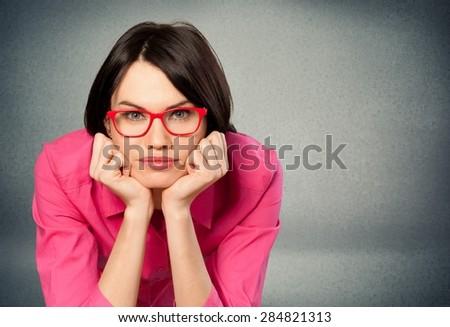 Glasses, Women, Business. - stock photo
