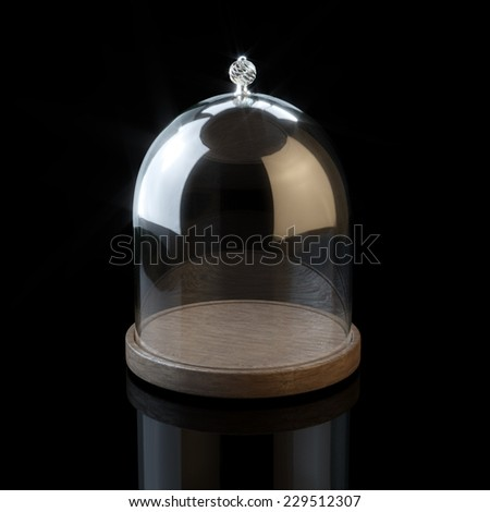 Glassware or jar for cookies and sweets on black background - stock photo