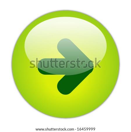 Glassy Green Next Icon Button - stock photo