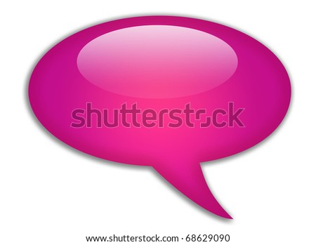 Glassy speech bubble - stock photo