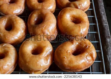 Glazed donuts - stock photo