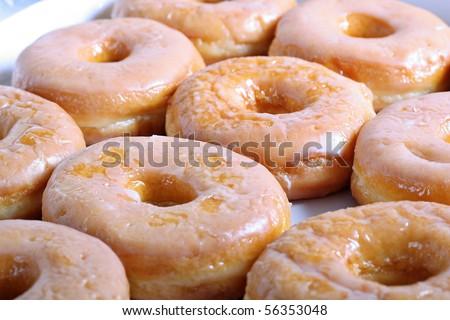 glazed doughnuts - stock photo