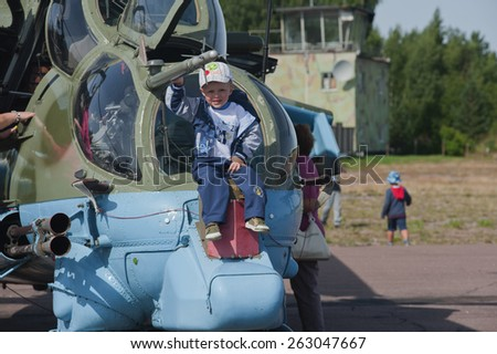 Glebychevo Russia on 12 August 2012. Day air force in the village of Glebychevo military parade - stock photo