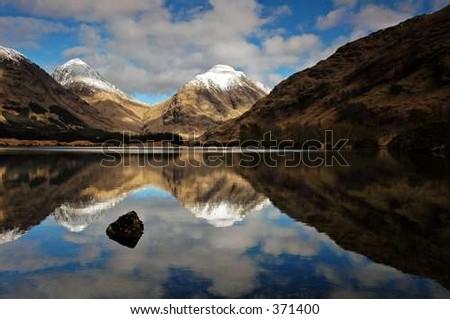 Glen Etive Reflections - stock photo