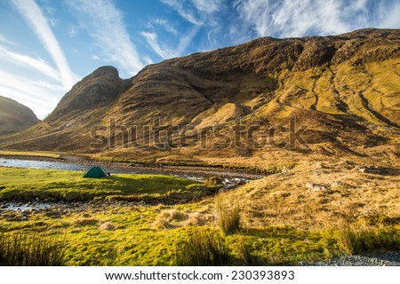 Glen Etive, Scottish Higland, Scotland, UK - stock photo