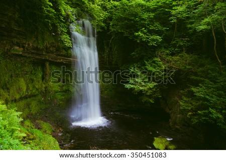 Glencar Waterfall, County Leitrim, Ireland - stock photo