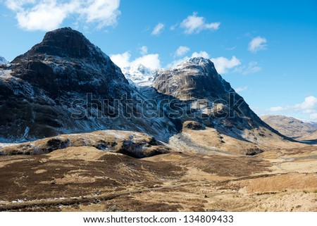 Glencoe in winter ,Scotland - stock photo