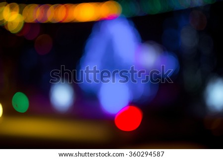 glitter bokeh lights bokeh defocused background - stock photo