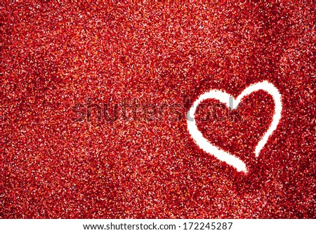 Hearts Glitter Backgrounds Glitter Heart Outlined in Red