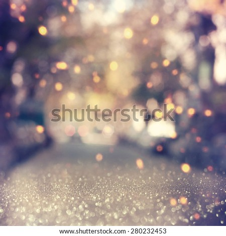 glitter  lights background. defocused. - stock photo