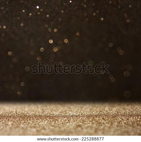 glitter vintage lights background. defocused.  - stock photo