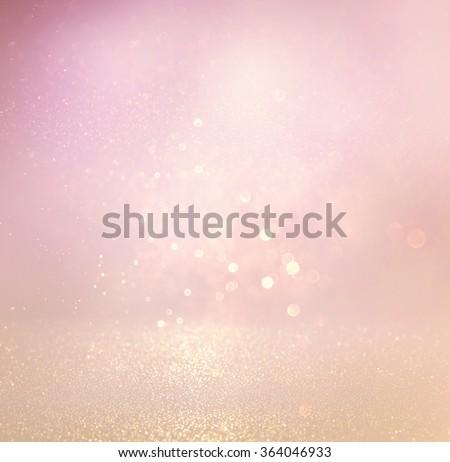 glitter vintage lights background. light silver, purple and pink. defocused.  - stock photo
