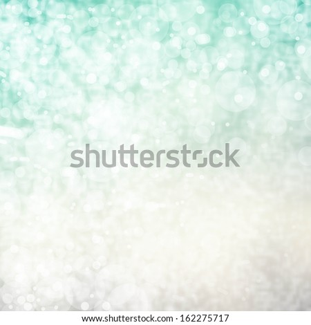 Glittering Lights Festive background with texture. White and green  Abstract Christmas twinkled bright background with bokeh defocused - stock photo