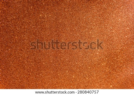 Glittery and Textured Orange Paper, soft focus - stock photo