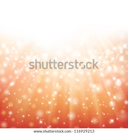 Glittery Christmas background with place for new year text invitation. For vector version, see my portfolio. - stock photo