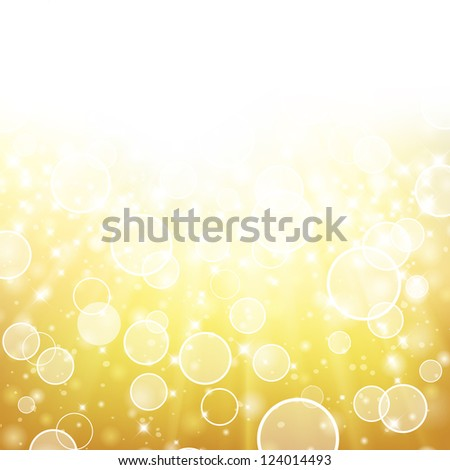 Glittery gold Holiday background with place for new year text invitation. For vector version, see my portfolio. - stock photo