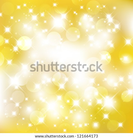 Glittery golden abstract Christmas background. For vector version, see my portfolio. - stock photo