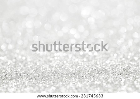 Glittery shiny lights silver abstract Christmas background - stock photo