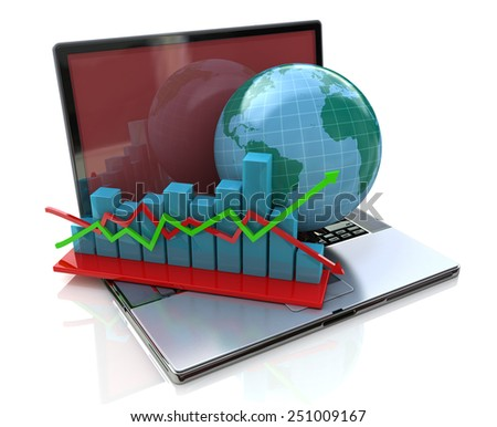 Global analysis in business - stock photo