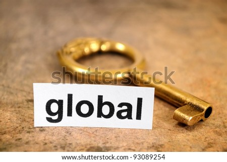 Global and key concept - stock photo