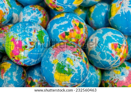 global ball toy - stock photo