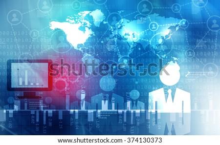 Global business communication - stock photo