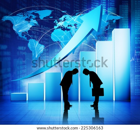 Global Business Greeting - stock photo