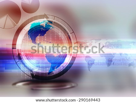 Global business network background - stock photo
